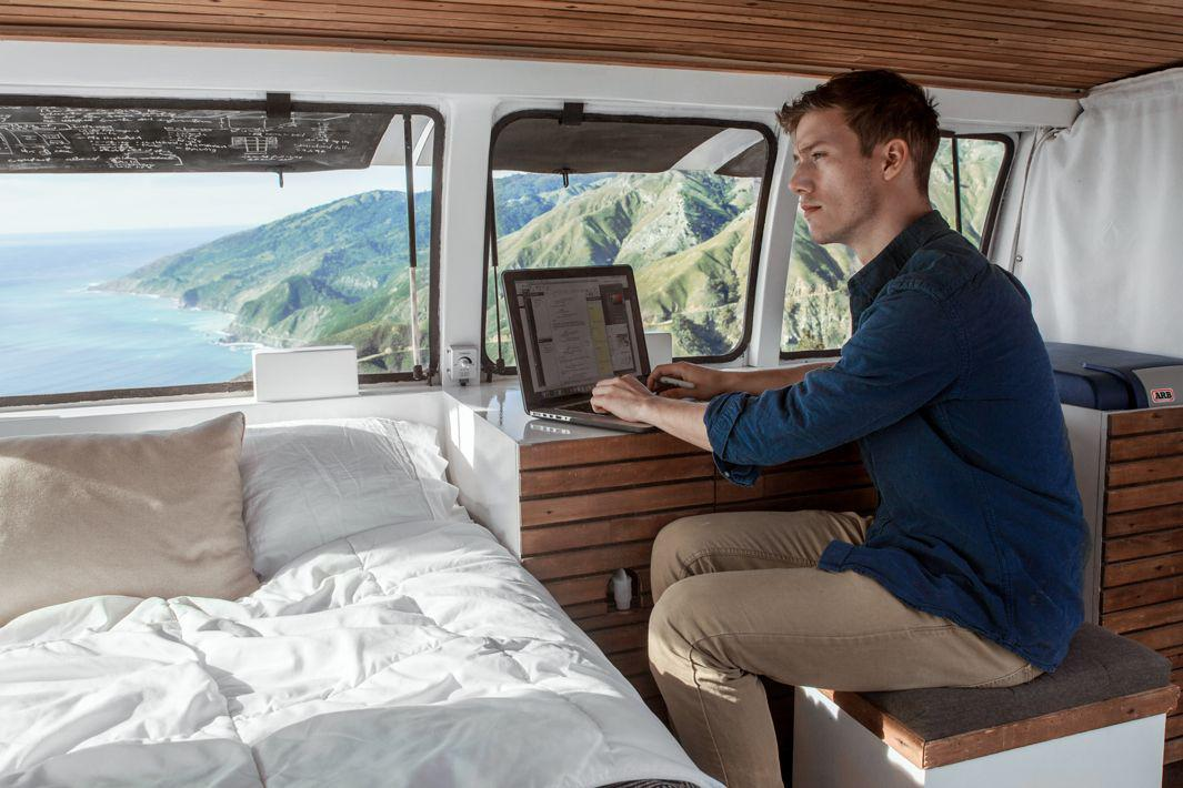 Zach Both is an aspiring filmmaker who lives in style in a DIY converted cargo van.