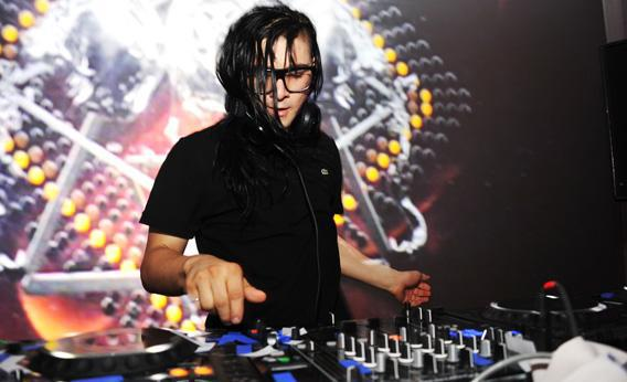 DJ Skrillex performs