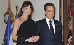 Nicolas Sarkozy and Carla Bruni. Click image to expand.