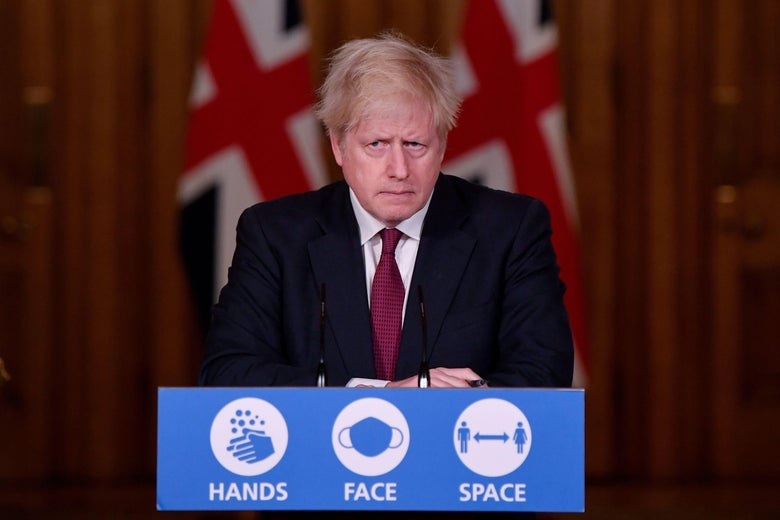 Britain's Prime Minister Boris Johnson attends a virtual press conference inside 10 Downing Street in central London on December 19, 2020.