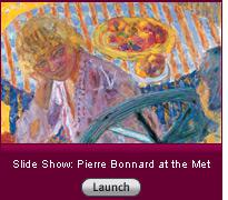 Click here to read a slide-show essay about the mysterious late work of Bonnard.