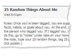 25 Random Things About Me.