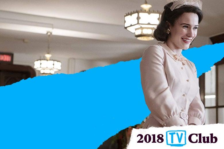 Rachel Brosnahan in The Marvelous Mrs. Maisel.
