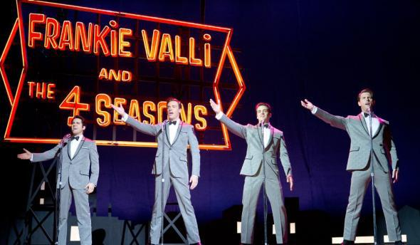 John Lloyd Young, Vincent Piazza, Erich Bergen, and Michael Lomenda in the film adaptation of Jersey Boys