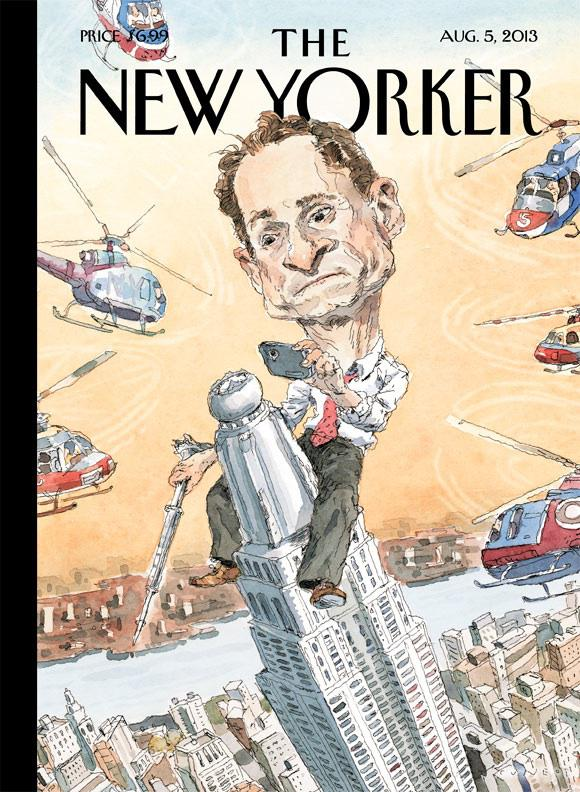 New Yorker Weiner cover: John Cuneo imagines a Anthony Weiner as a Sexting King Kong