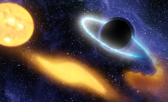 Black Hole Grabs Starry Snack.