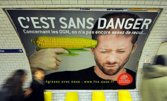 An anti-GM foods ad in Paris
