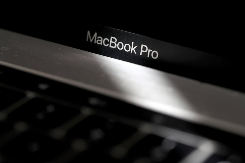 An Apple MacBook Pro laptop.