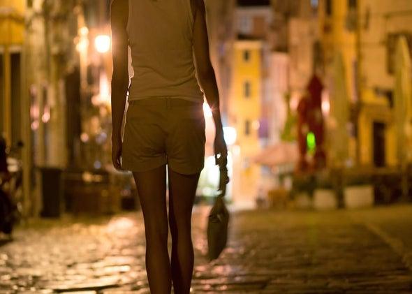 Atlantic city street walkers