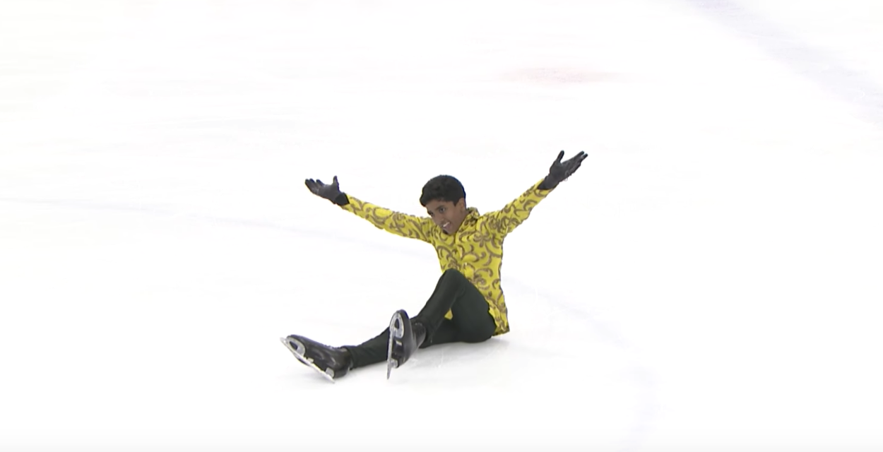 Krishna Sai Rahul Eluri's grand finale at the 2016 ISU Junior Grand Prix.