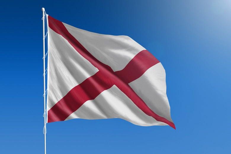 The Alabama state flag.