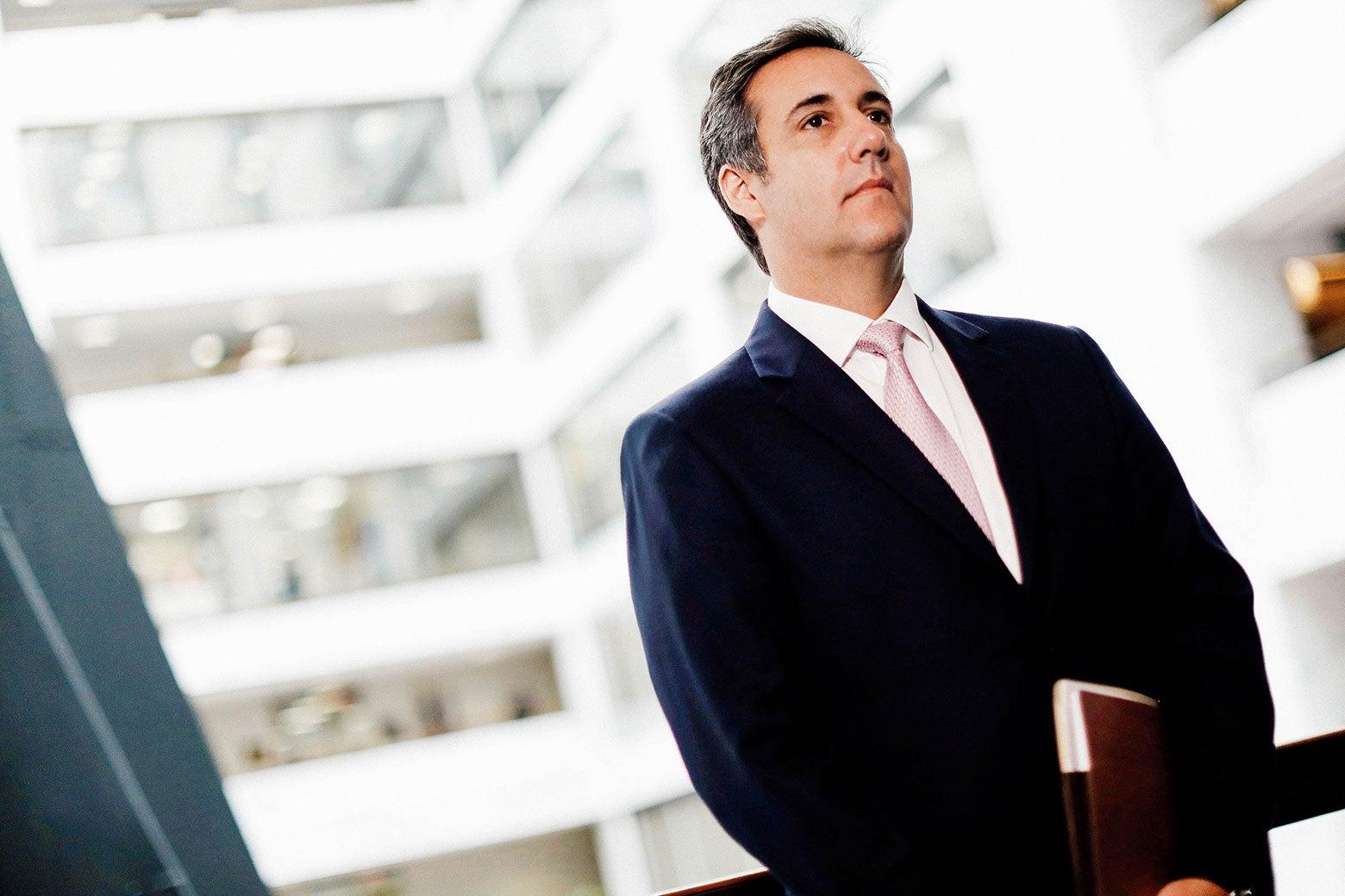 Michael Cohen in a Senate office building.