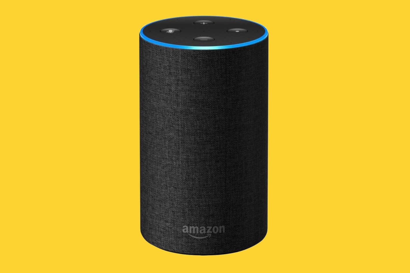 An Amazon Echo.