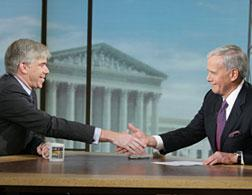 David Gregory and Tom Brokaw on Meet the Press. Click image to expand.