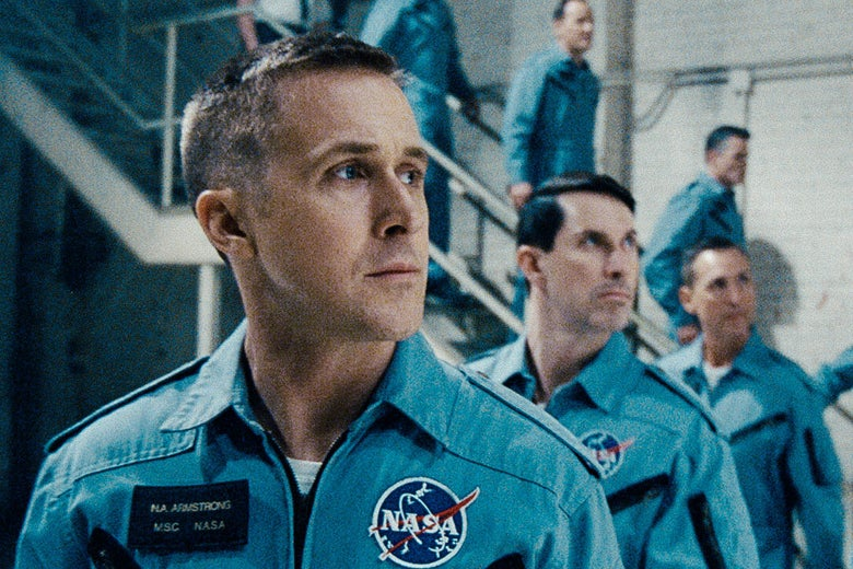 Ryan Gosling in a NASA jumpsuit.