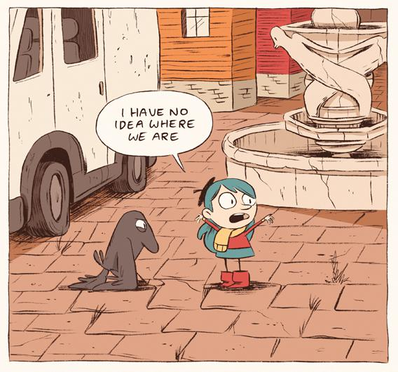A panel from Luke Pearson's Hilda and The Bird Parade