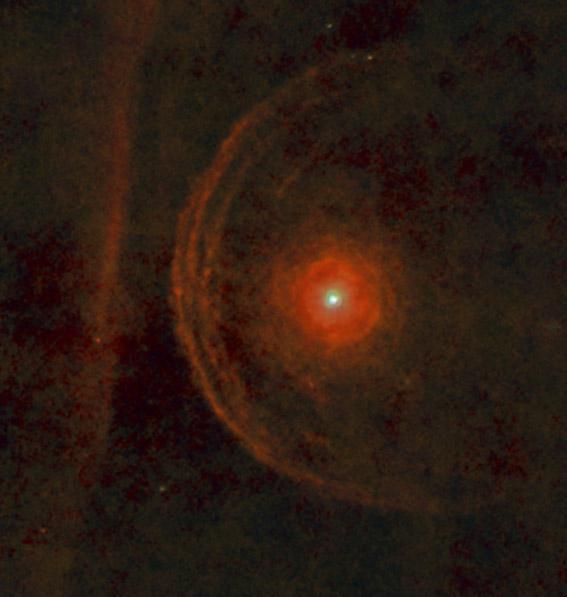 Herschel space telescope image of the star Betelgeuse.