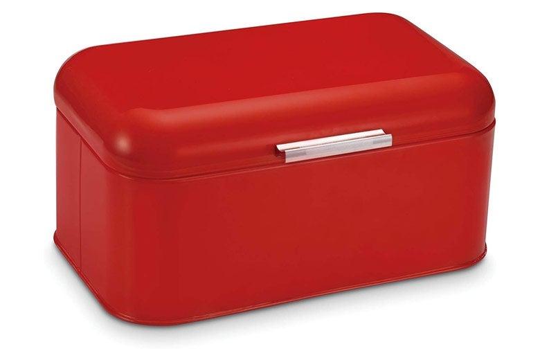 Red bread bin.