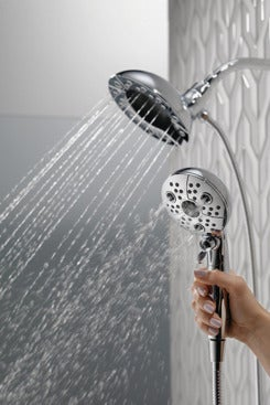 Delta 58480-PK In2ition H2Okinetic 5-Setting Two-in-One Handshower Showerhead.