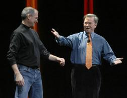 Steve Jobs and Google CEO Eric Schmidt. Click image to expand.
