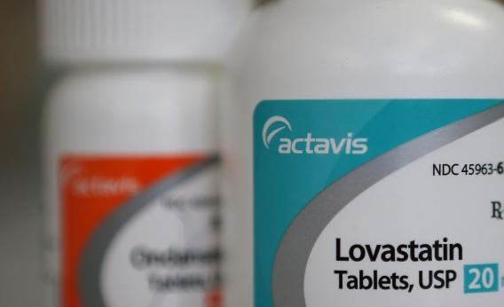 In this photo illustration, bottles of pharmaceuticals made by Actavis sit on a counter at Jack's Pharmacy on May 20, 2013, in San Anselmo, Calif.