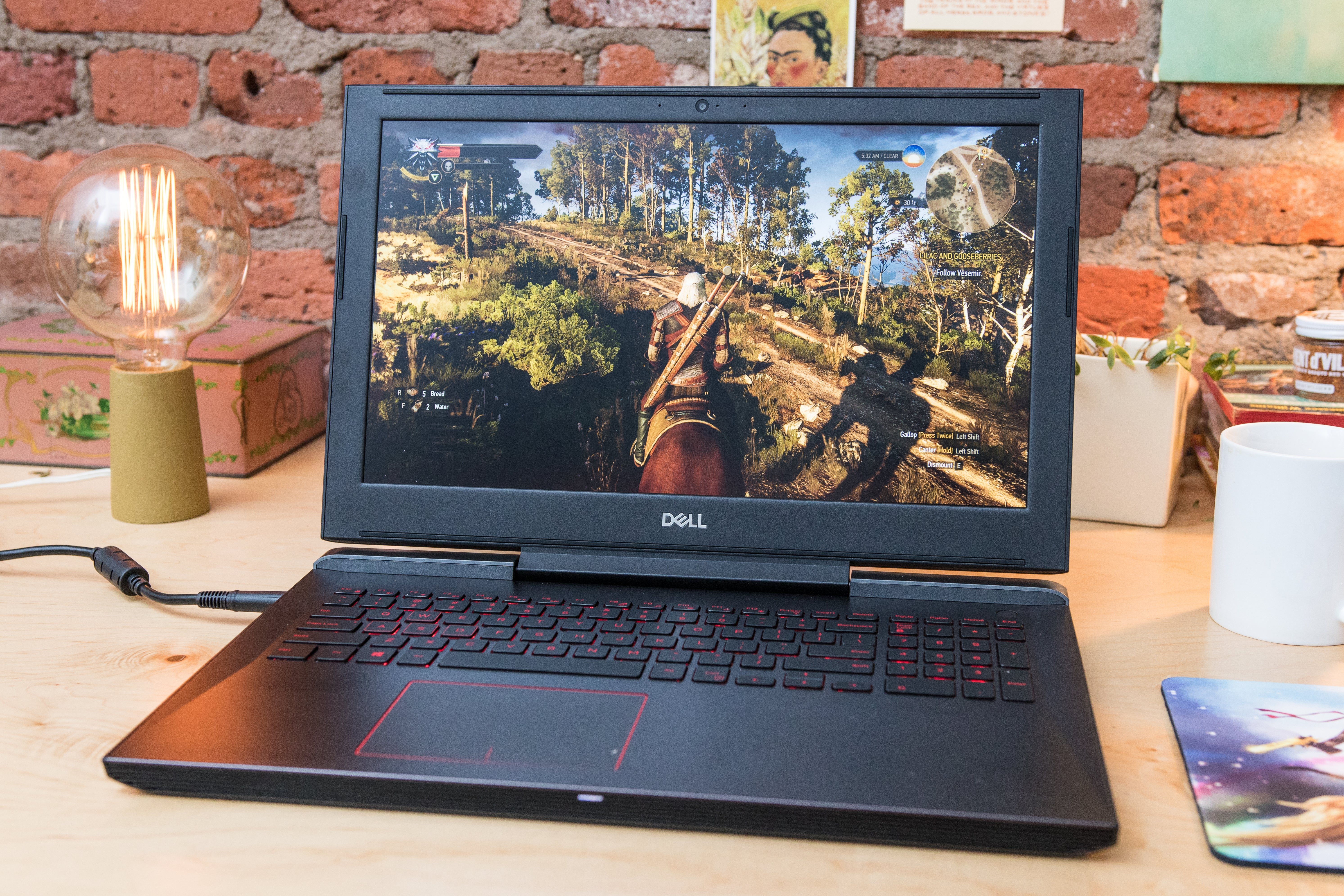 Dell Inspiron 15 7000 Gaming on a desk.