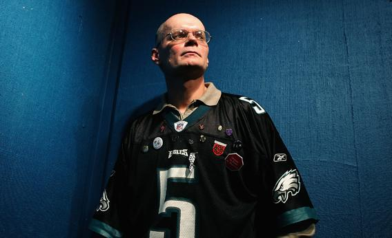 "Nick Yarris poses for a portrait session after the ""After Innocence"" interviews at the Starbucks Sundance Interview Headquarters during the 2005 Sundance Film Festival on January 23, 2005 in Park City, Utah."