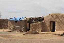 A structure in Jebel Awila camp, on the outskirts of Khartoum.