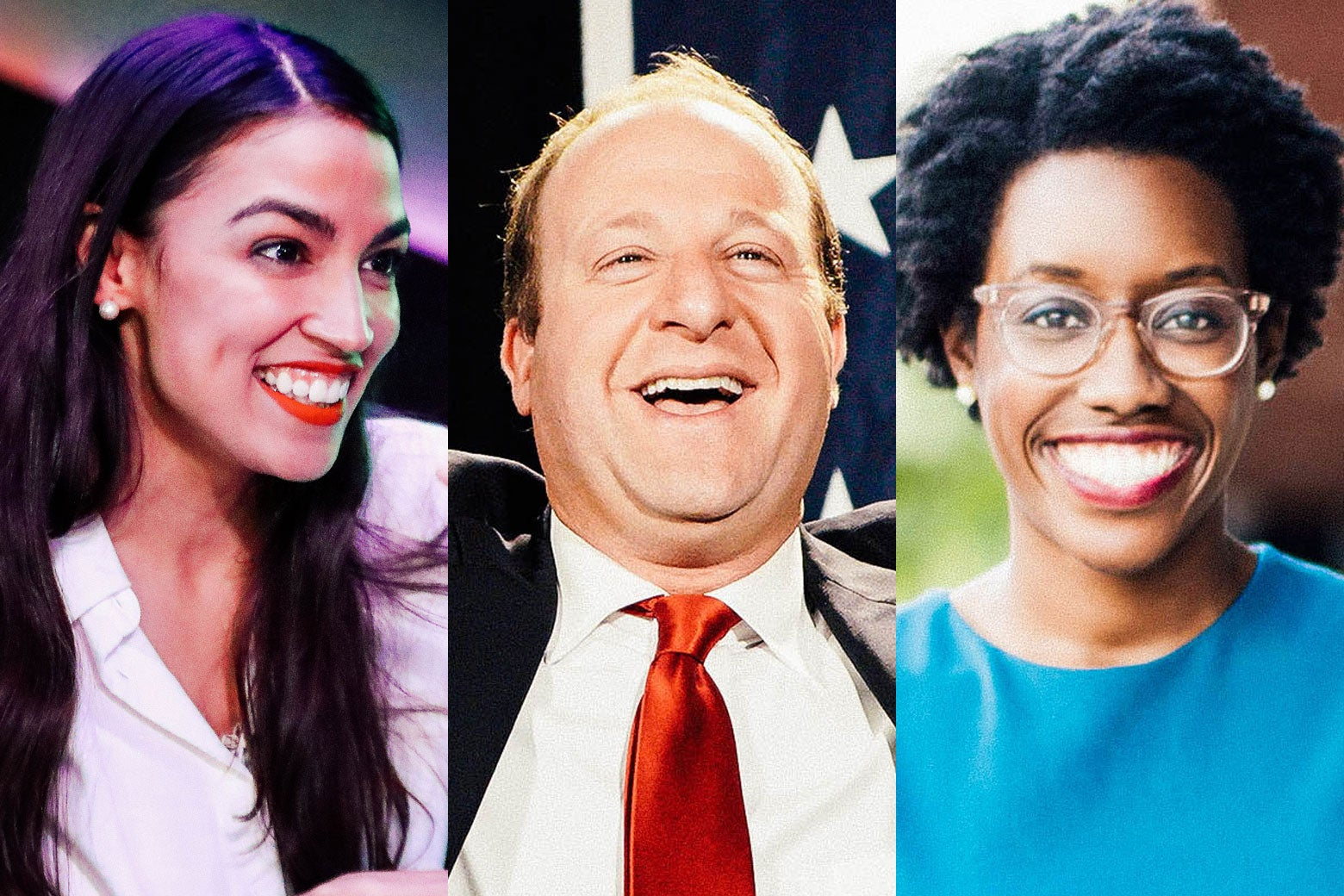 Alexandria Ocasio-Cortez, Jared Polis, and Lauren Underwood