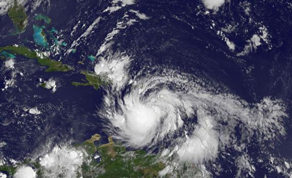 This image of Tropical Storm Isaac.