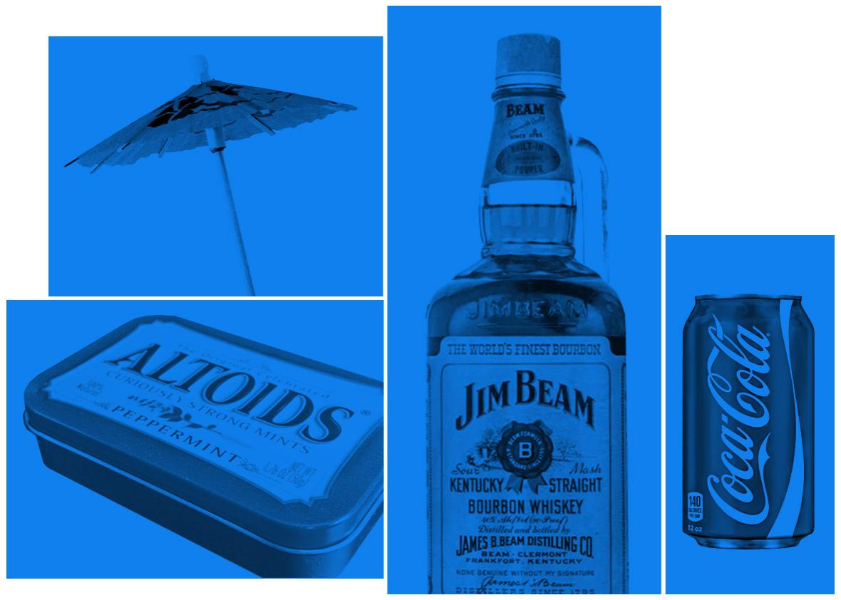 Photo illustration by Natalie Matthews-Ramo. Photos by CocaCola, Jim Beam, Altoids and Thinkstock.