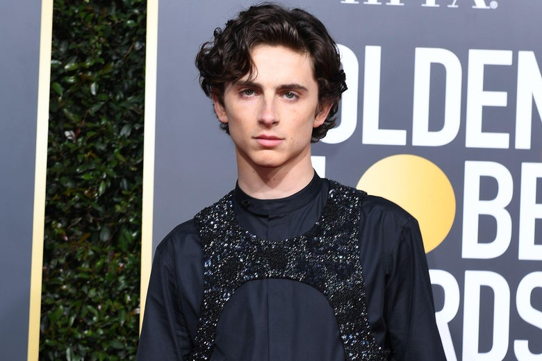 Best Actor in a Supporting Role in any Motion Picture for 'Beautiful Boy' nominee Timothee Chalamet arrives for the 76th annual Golden Globe Awards on January 6, 2019, at the Beverly Hilton hotel in Beverly Hills, California. (Photo by VALERIE MACON / AFP)        (Photo credit should read VALERIE MACON/AFP/Getty Images)