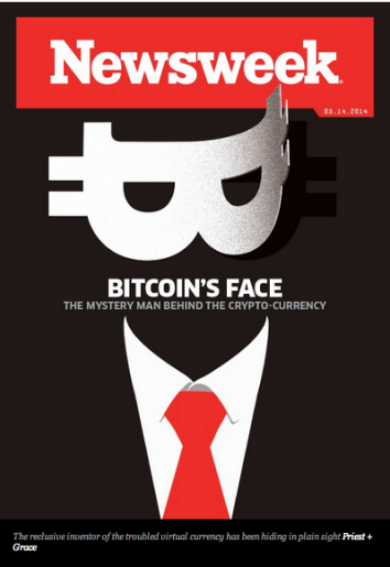 Newsweek magazine: the possible identity of Bitcoin creator Satoshi Nakamoto.