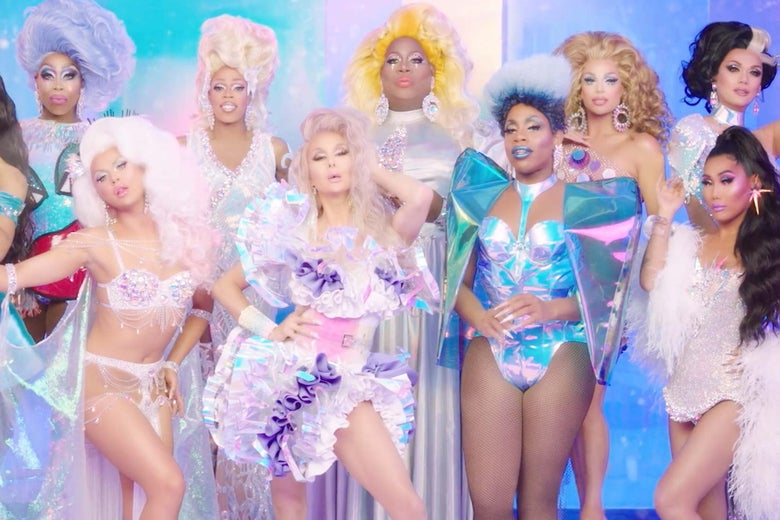 The contestants on RuPaul's Drag Race All Stars 4.