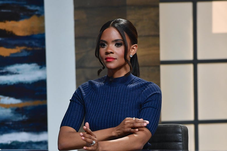 """Candace Owens is seen on the set of """"Candace"""" on May 24, 2021 in Nashville, Tennessee."""