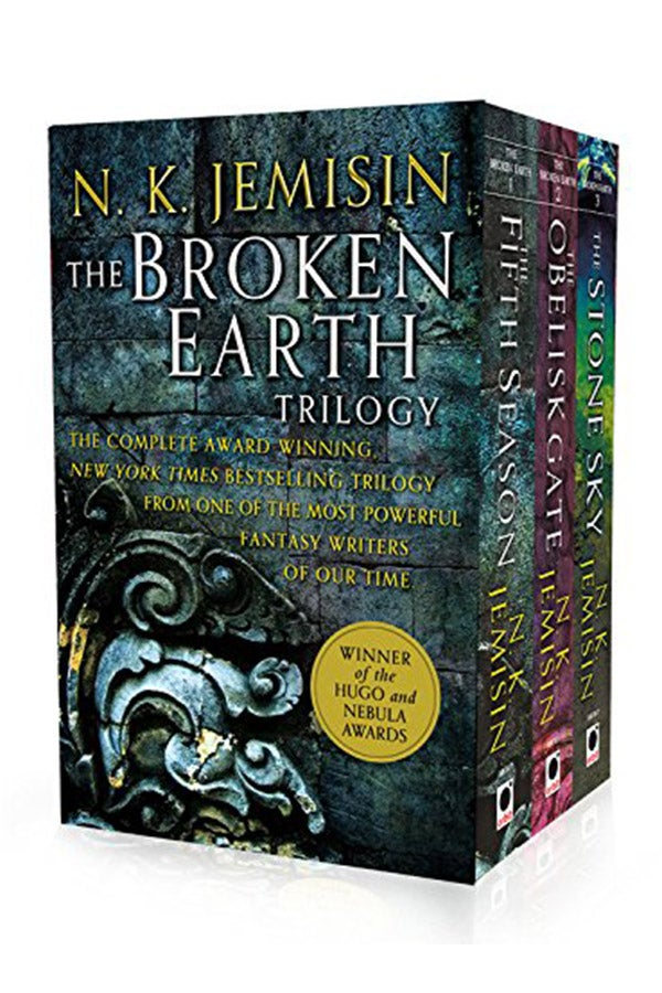 Book cover of The Broken Earth Trilogy.