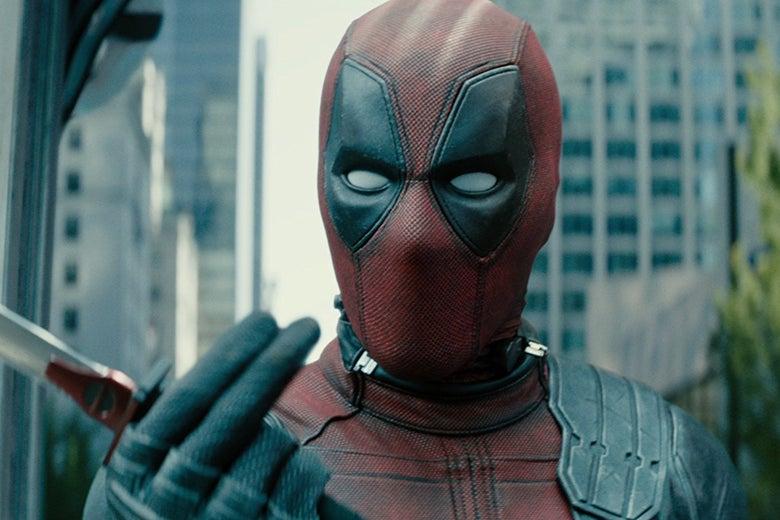 Ryan Reynolds in Deadpool 2.