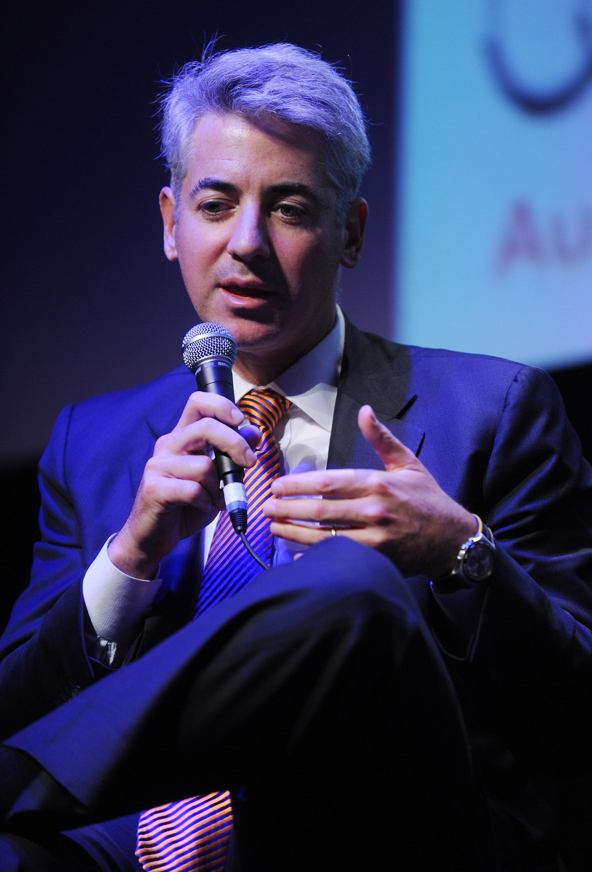 Pershing Square Capital Management CEO Bill Ackman speaks at the New York Film Festival.