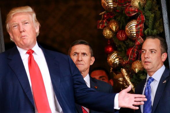 Trump, Flynn, Priebus