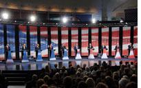 GOP candidates at their lecterns          Click image to expand.