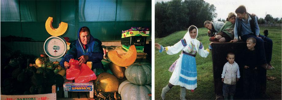 Left: From the Meeting series, Moscow, 2004. Right: From the Everyday cycle, Kartukovo, 1995.