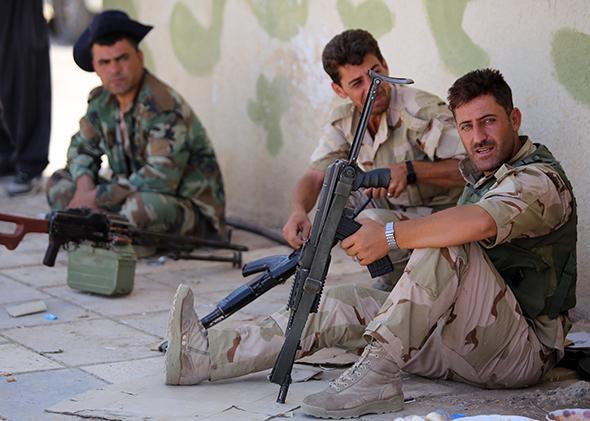 Kurdish peshmerga fighters.