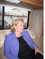 Claire McCaskill on her campaign bus.