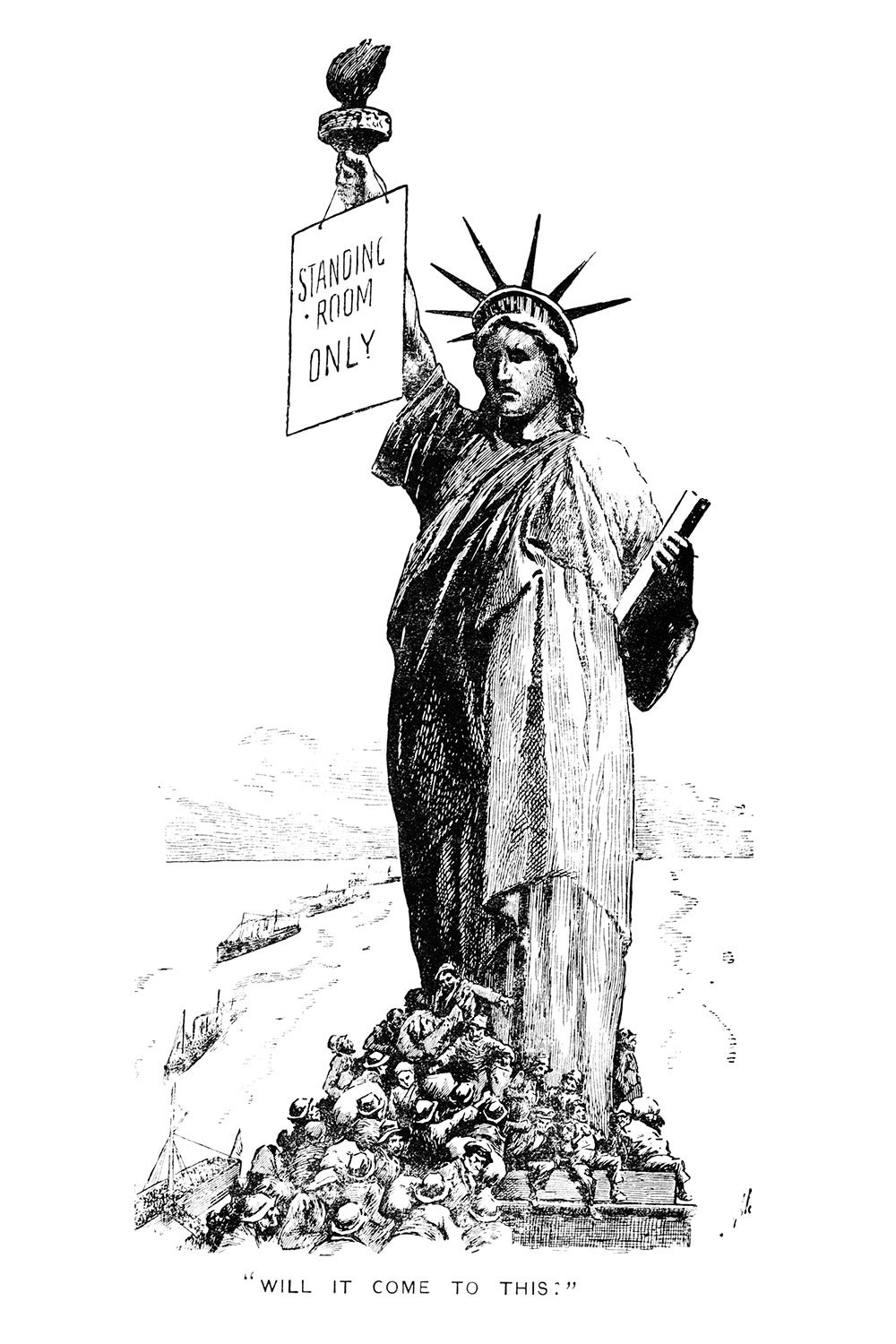 Statue of Liberty cartoon.