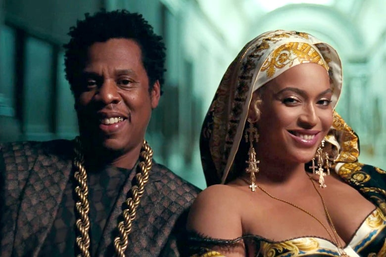 Jay-Z and Beyoncé at the Louvre.