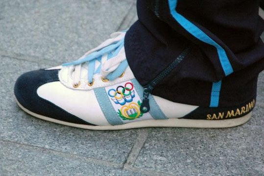 Team San Marino's special sneakers.