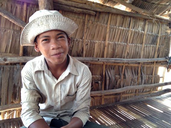 Provincial Cambodian boy.