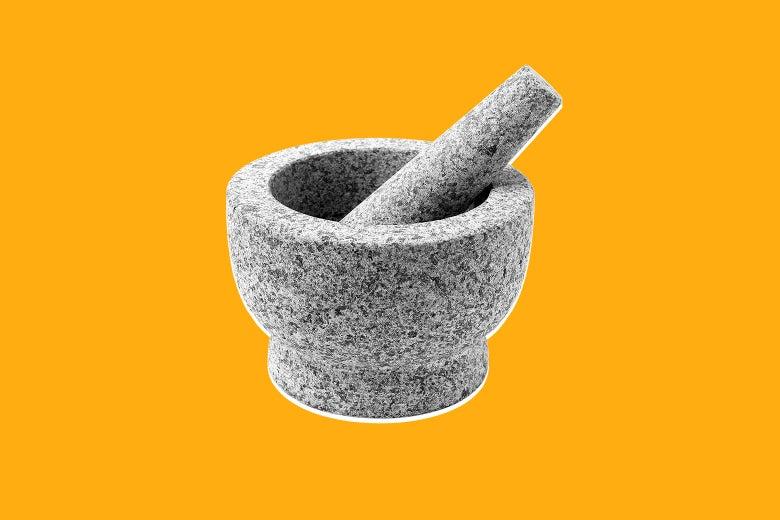 A ChefSofi mortar and pestle set.