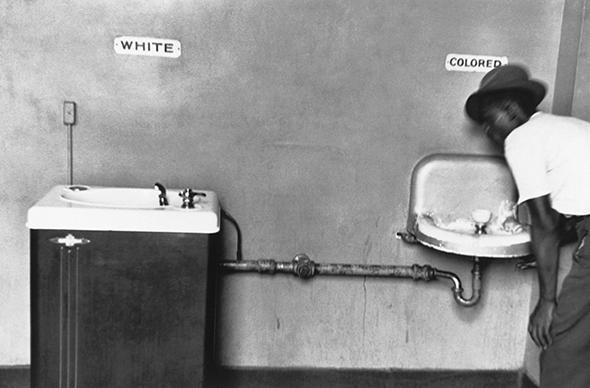 Segregated drinking fountains in North Carolina in 1950.