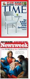 Time and Newsweek.